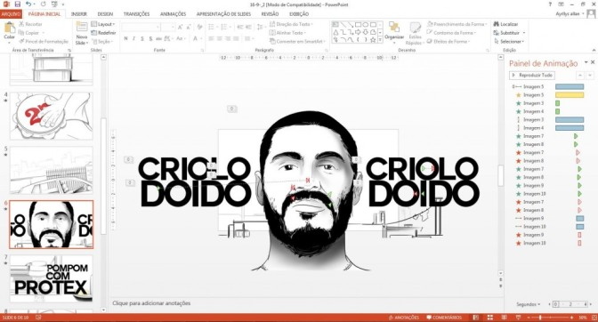 Fã de Criolo cria clipe sensacional no Power Point