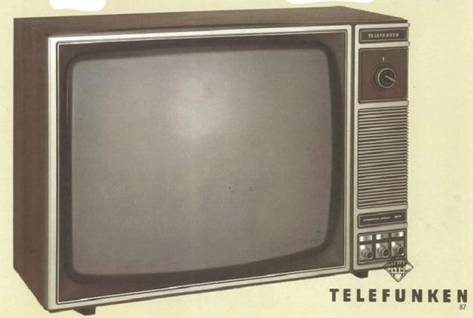 Transmissão de futebol – parte 2: televisor Telefunken