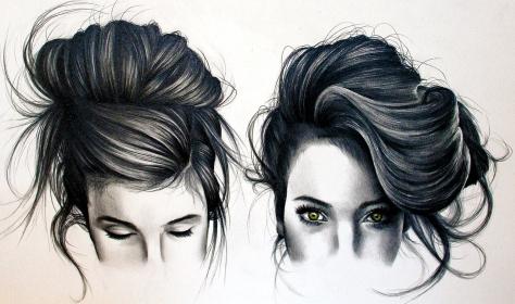 Girl Sketch Tumblr Hair How To Draw Tumblr Black Hair - Youtube